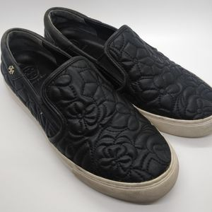 Tory Burch Sela Sneakers Floral Slip On Leather